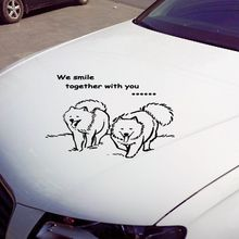 Самодийских собака стикеры стены этикета винила украшения автомобиля наклейка для автомобилей и мотоциклов