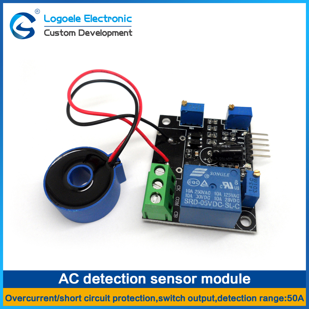 Qualidade o Transformador Sensor de Sobrecorrente Módulo de Detecção de Proteção contra Curto-circuito Alta Atual 0-50a ac –