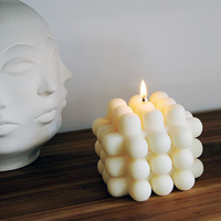 New INS Hot Modern Stackable Candle 3D Milk Candles Soy And Bee Wax 3D Sample Room Nordic Style Decorative Candle