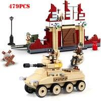 WW2 Soviet Stalingrad Defend Army Soldiers Figures Building Blocks Compatible Legoing Military Tank Vehicle Bricks Children Toys