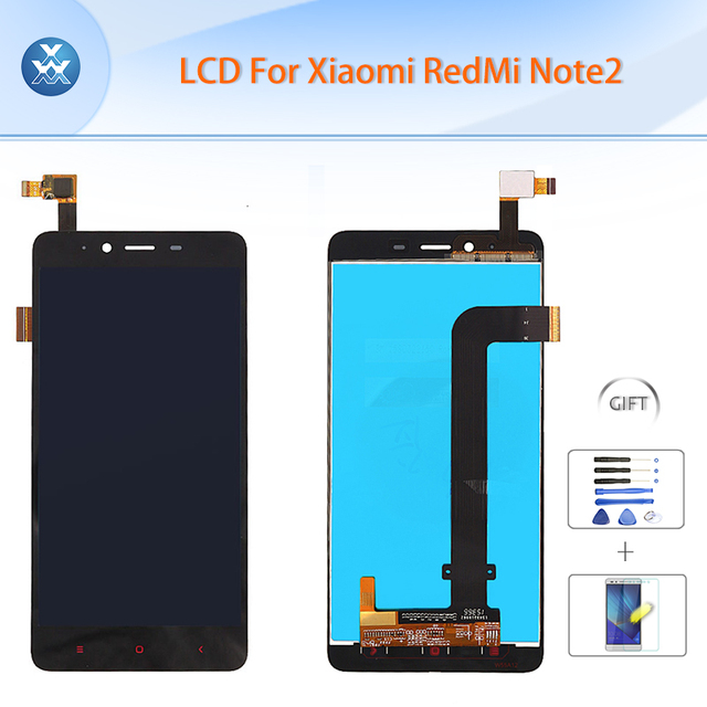 """Original LCD for Xiaomi Redmi Note 2 LCD display touch screen digitizer assembly 5.5"""" pantalla black for Xiao Mi Red Mi Note 2"""