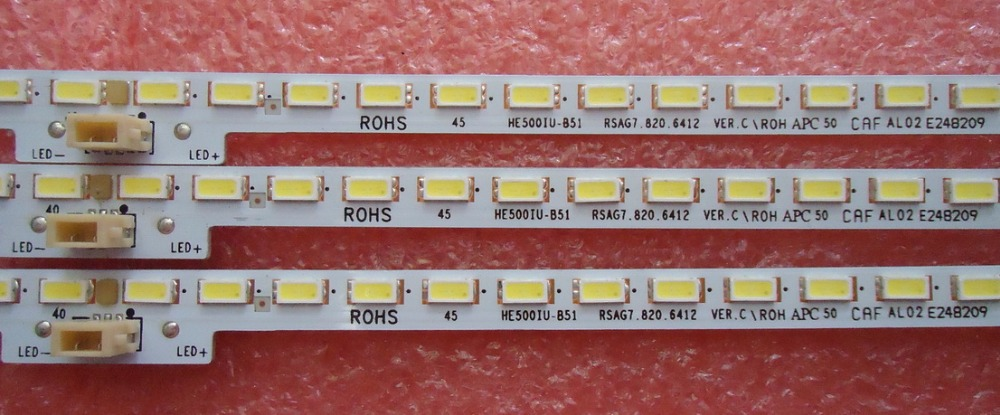 2pcs/lot New RSAG7.820.6412 80LEDS 544MM For Hisense LED50K5500US HE500IU-B51/S0 Led Backlight Strip