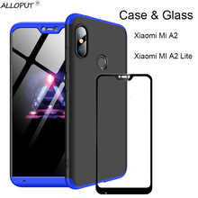 3-in-1 Case 360 Xiaomi Mi A2 Lite Full Cover Protection Xiaomi Mi A2 Lite Plastic Hard Case Xiaomi Mi A2 Cover Screen Protector смартфон xiaomi mi a2 lite 3 32 gb черный