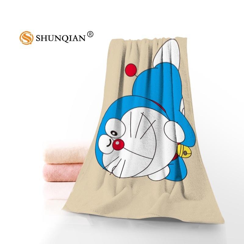 Custom Doraemon Towels Facecloth Bath Towel Bamboo Fiber Washcloth Washrag 35x75cm 140x70cm 1pcs Custom