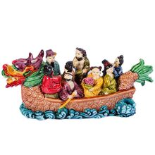 Feng Shui osiem nieśmiertelnych na smoczych łodzi chiński starożytny bóg Fengshui Wealth statek 8 mmortals