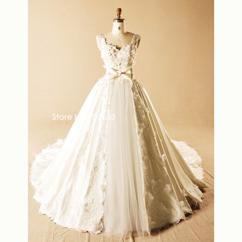 Sweetheart Wedding Dress With Cap Sleeves: Luxurious Elegant Sweetheart Cap Sleeves Lace Up Cheap