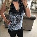 2017 Summer Sexy Autumn Fall Fashion T Shirt Women Tops Elegant Deep V Neck Sleeveless Velvet Casual T-shirt Free Shipping Shop