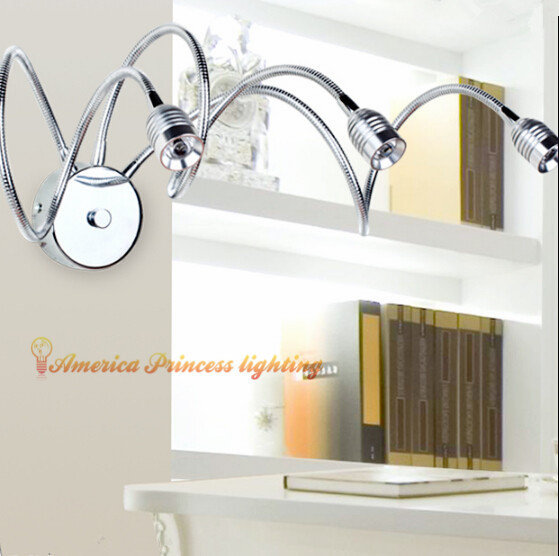 Free shipping LED light effect bedside wall lamp bedroom hallway bathroom mirror front lamps , material: iron, AC220V