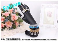 Free Shipping !! New Design Fashion Hand Jewelry Display Stand For Ring Bracelets Display Hand Plastic Mannequin High Quality