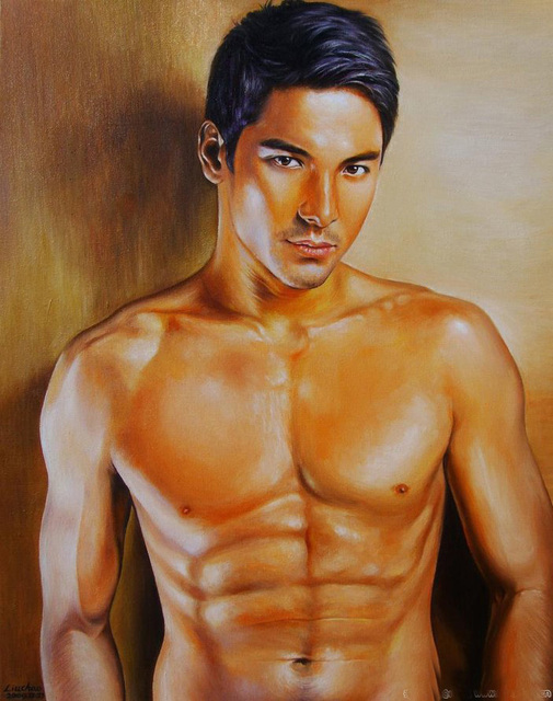 Wholesale Art Oil Painting Top Cool Art Oil Painting Nude Nud Male Man