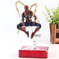 SHF Figuarts Marvel Legends Avengers Infinity War Spiderman Iron Spider & Tamashii Stage PVC Hot Toys Spider Man Figure 14cm
