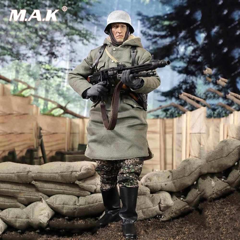 For Collection 1/6 WWII SS-PANZER-DIYISION DAS REICH MG42 Guner Figure Display doll Model Toy full set with the figure body 1