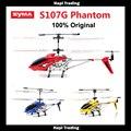 Original Syma S107 S107G 3.5CH RC brinquedo voador gyro Controle de Rádio do Metal da fuselagem de liga R/C Mini Helicoptero Co-Axial helicóptero de brinquedo