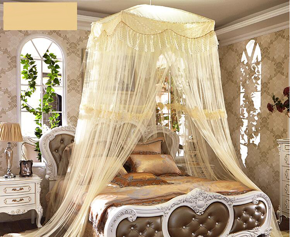Luxury Romantic Large Mosquito Net Princess Students Insect Bed Canopy Netting Lace Mosquito Nets Square Curtain Dome Bedding-in Mosquito Net from Home ... & Luxury Romantic Large Mosquito Net Princess Students Insect Bed ...