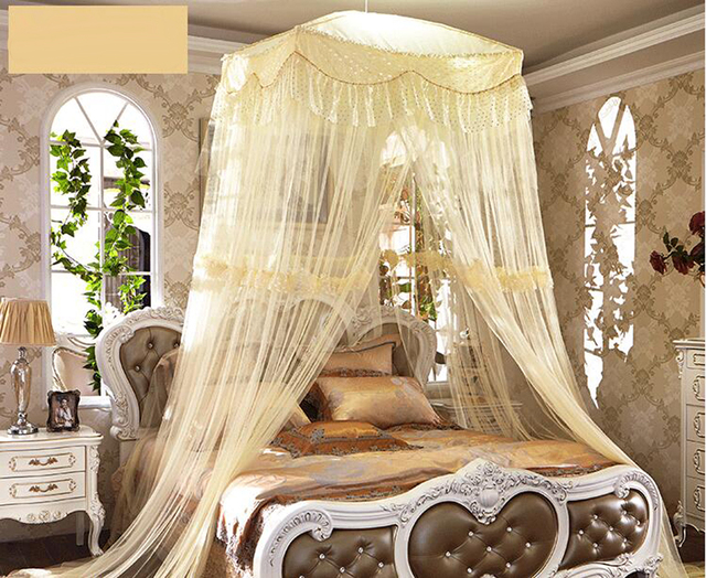 Luxury Romantic Large Mosquito Net Princess Students Insect Bed Canopy Netting Lace Mosquito Nets Square Curtain & Luxury Romantic Large Mosquito Net Princess Students Insect Bed ...