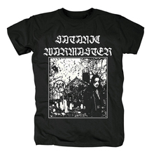 Bloodhoof satanic warmaster black metal heavy metal new  cotton t shirt Asian Size