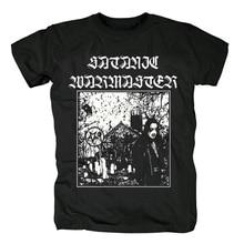 Новая хлопковая Футболка bloodhof satanic warmaster black metal heavy metal, Азиатский размер