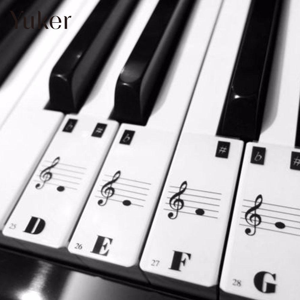 Пианино клавиатура 61 ключей электронных клавиатура 88 клавиш Наклейки музыка наклейка Этикетка Примечание узнать biginners малыш ...