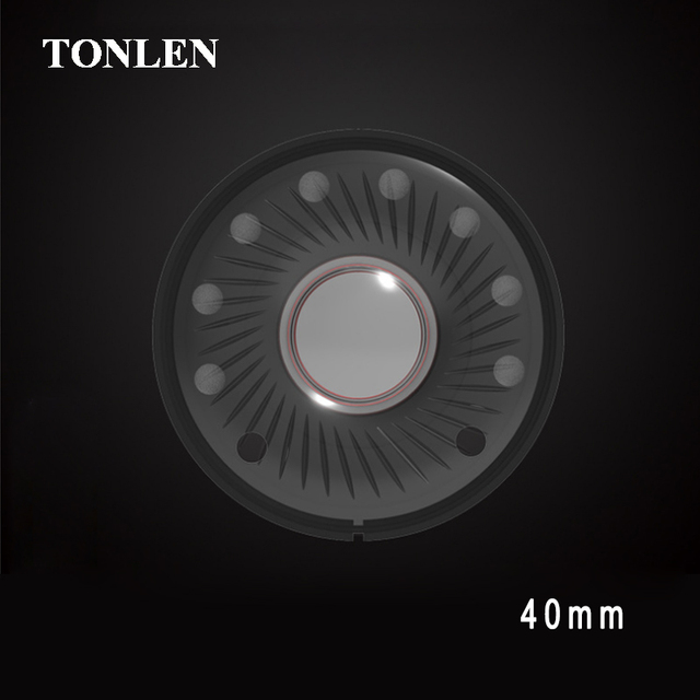 TONLEN Subwoofer Headphone Speakers Accessories 40mm Headset Speaker Full Frequency Bass Headphone Speakers Unit 10pcs/100pcs