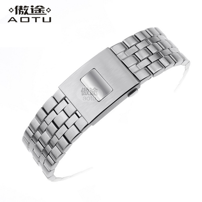 все цены на Stainless Steel Watchbands For IWC IW377704/01 PILOT'S/Mark Watches Strap Men Bracelet Top Brand Clock Belt Women Watchband онлайн