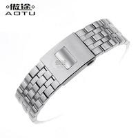 Stainless Steel Watchbands For IWC IW377704/01 PILOT'S/Mark Watches Strap Men Bracelet Top Brand Clock Belt Women Watchband