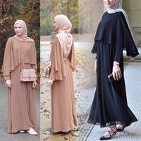 Ramadan Abaya Muslim Women Dress Cloak Long Sleeve Maxi Islamic Jilbab Arab Dubai Gowns Turkish Robe Worship Full Length Musulmane