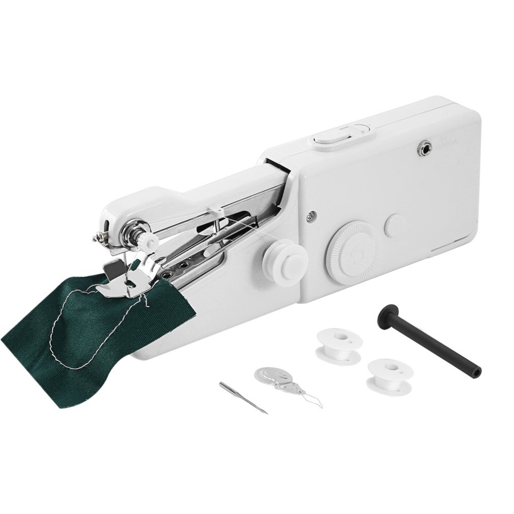 2017 Mini Portable Electric Handheld Sewing Machine Stitch Set Household Clothes Fabric Handheld Sewing Tool 210*70*35mm maquina de coser de mano