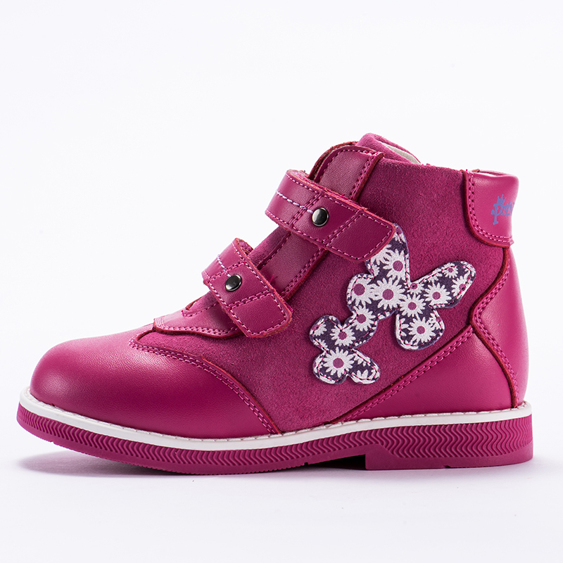 Princepard  genuine leather orthopedic shoes for kids  2018 New autumn winter velvet lining casual orthopedic boots  girls  boys spring outfits for kids