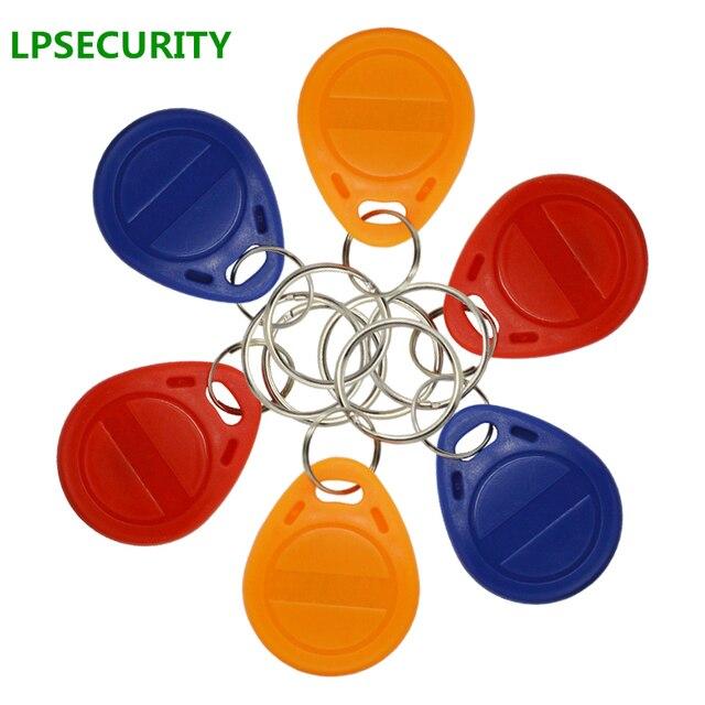 Lpsecurity 100 個 125 125khz キーホルダー rfid 近接 id カードトークンタグキーアクセス制御のための