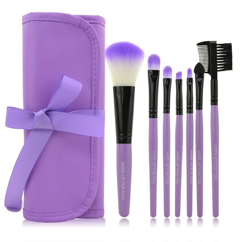 Professional 7 PCS Makeup Brushes Set Tools Make-up Toiletry Kit Wool Brand Make Up Brush Set Case Cosmetic Foundation Brush 147 pcs portable professional watch repair tool kit set solid hammer spring bar remover watchmaker tools watch adjustment