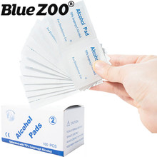 100pcs/box Disposable Alcohol Cotton Pad 6*3cm Medical Alcohol Swab Wipes Piece Antibacterial Skin Cleaning Care First Aid(China)