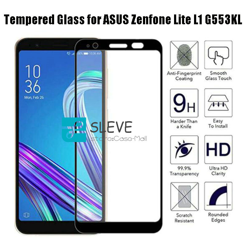 Full Tempered Glass For ASUS Zenfone Lite L1 G553KL Full Coverage Screen Protector Protective Film ASUS Zenfone Lite L1 G553KL