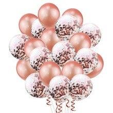 20 шт. шар цвета розового золота деко день рождения, набор, вечерние шары, розовые шары для свадьбы и дня рождения вечерние украшения для детей и взрослых, хромированные шары
