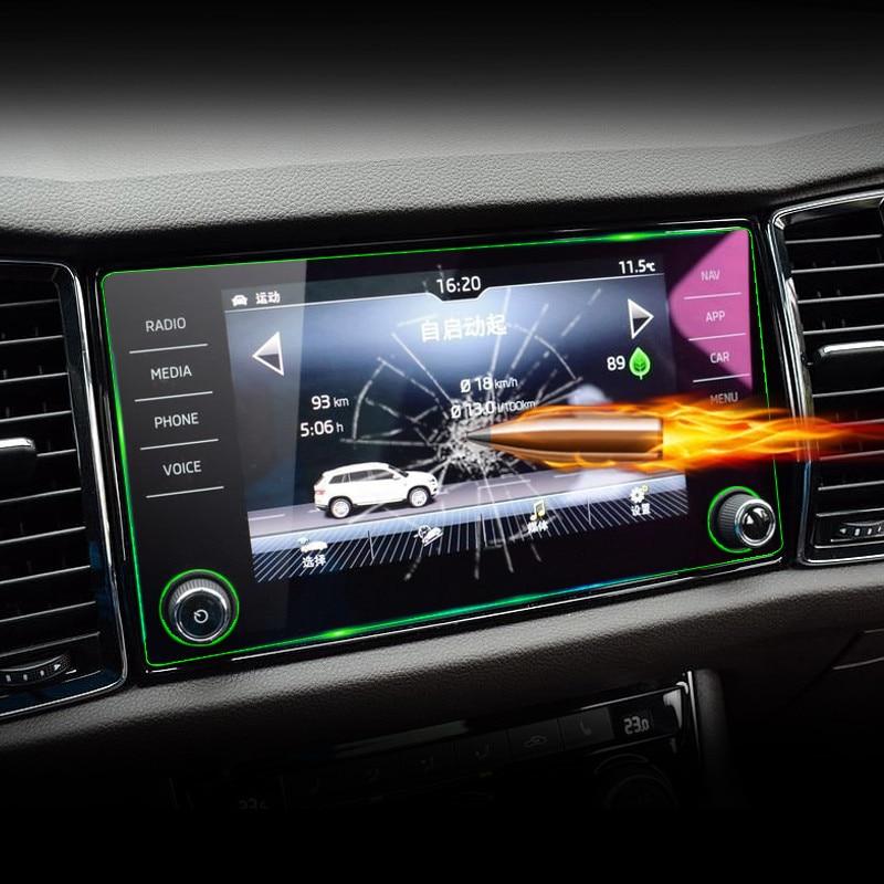 Car GPS Navigation Tempered Glass Screen Protector Steel Portective Film For Skoda Kodiaq 2017 2018 Car