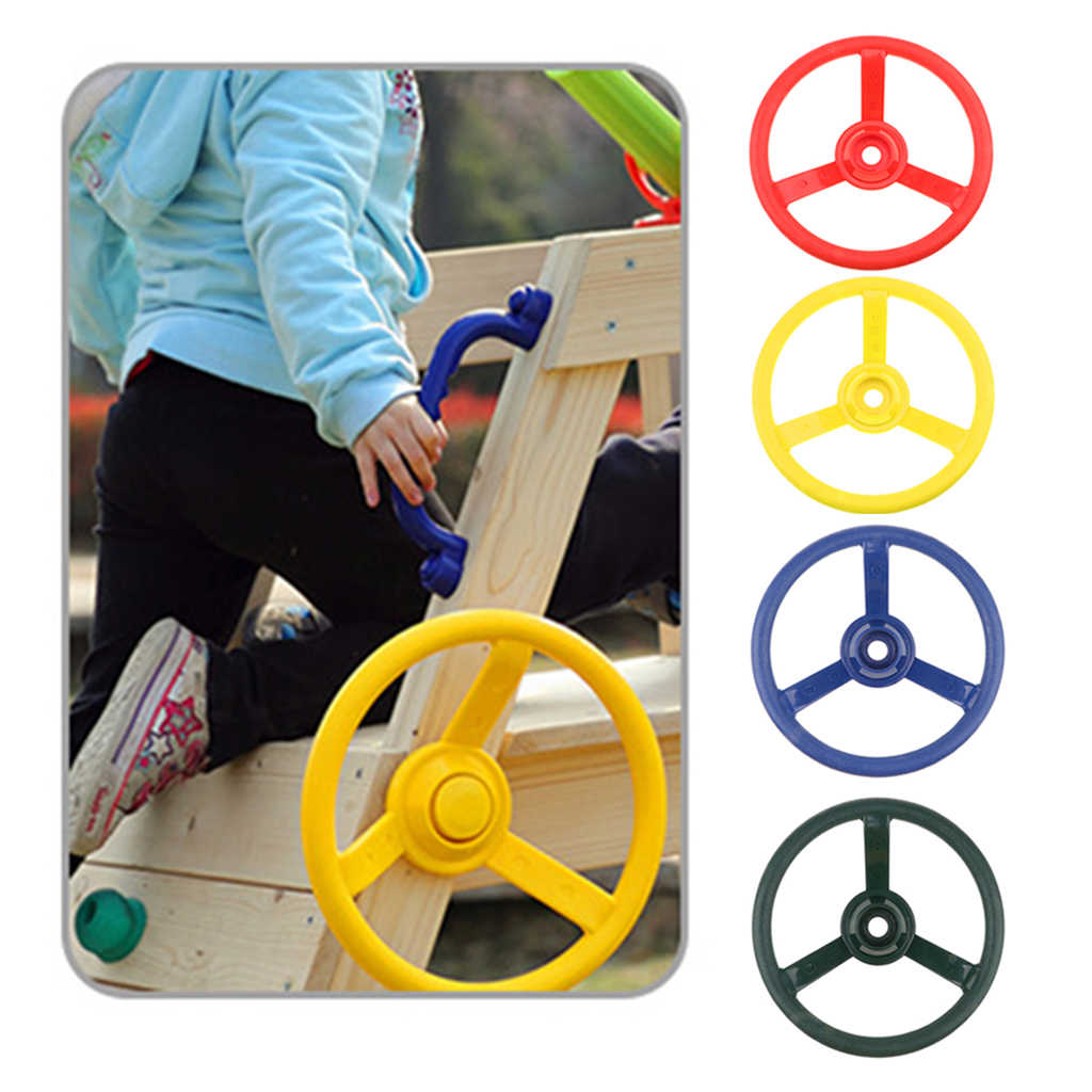 30cm Kids Steering Wheel Toy Swing Set Accessory Pirate Ship Wheel Outdoor Gym Sports Garden Game Climbing Frame