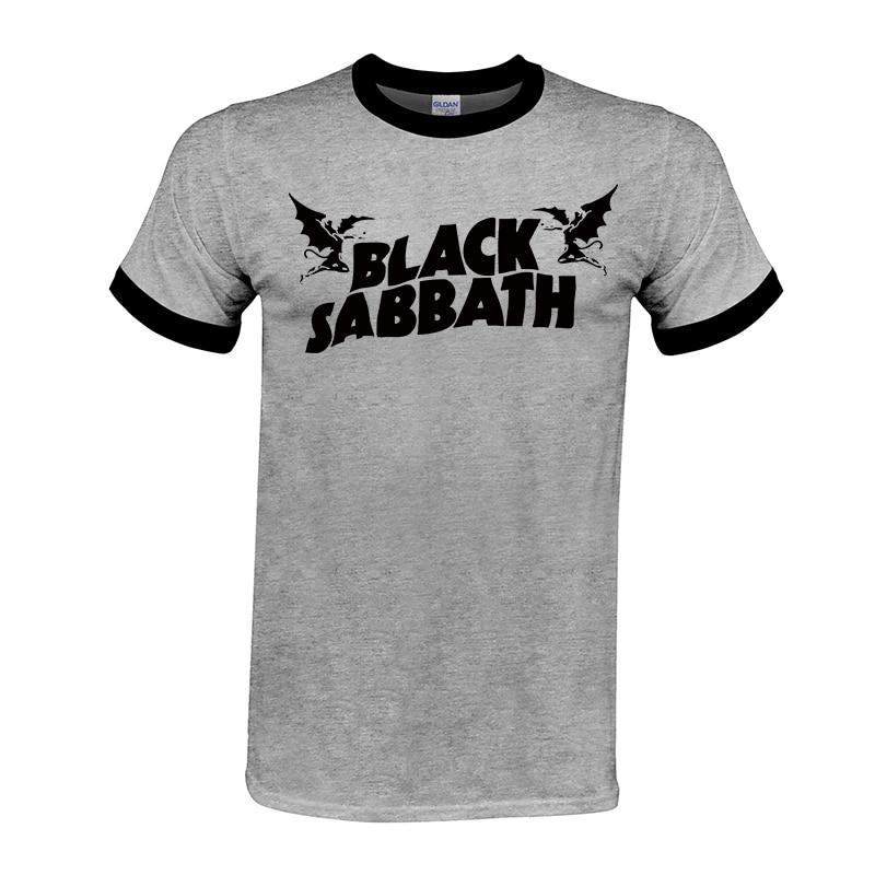 Cool Great T-shirt Mens Black Sabbath US Tour Heavy Metal Men Cozy T Shirt Raglan Sleeve Crewneck Cotton Group Tops Tee #02