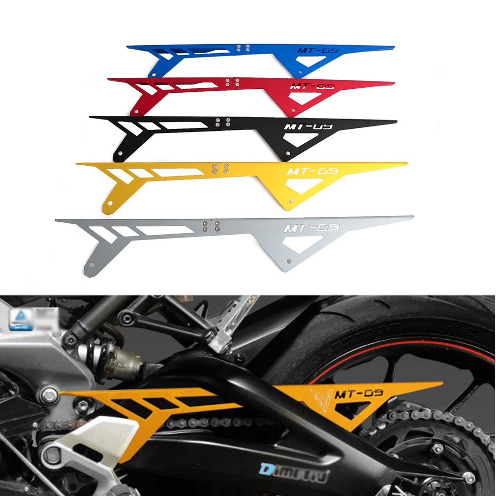NICECNC CNC Chain Guard Cover Protector Decoration For Yamaha MT-09 MT09 Racer 2013 2014 2015 2016 2017 2018