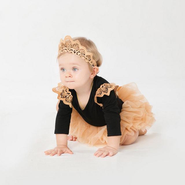 Ropa toddle bebés fija el mameluco + falda vestido de fiesta fiesta de cumpleaños vintage bebe recién nacido conjunto ropa para 0-2y