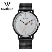 купить CADISEN Fashion Mens Watches Top Brand Luxury Quartz Watch Men Full Steel Date Waterproof Sport Wristwatch Relogio Masculino по цене 1484.99 рублей