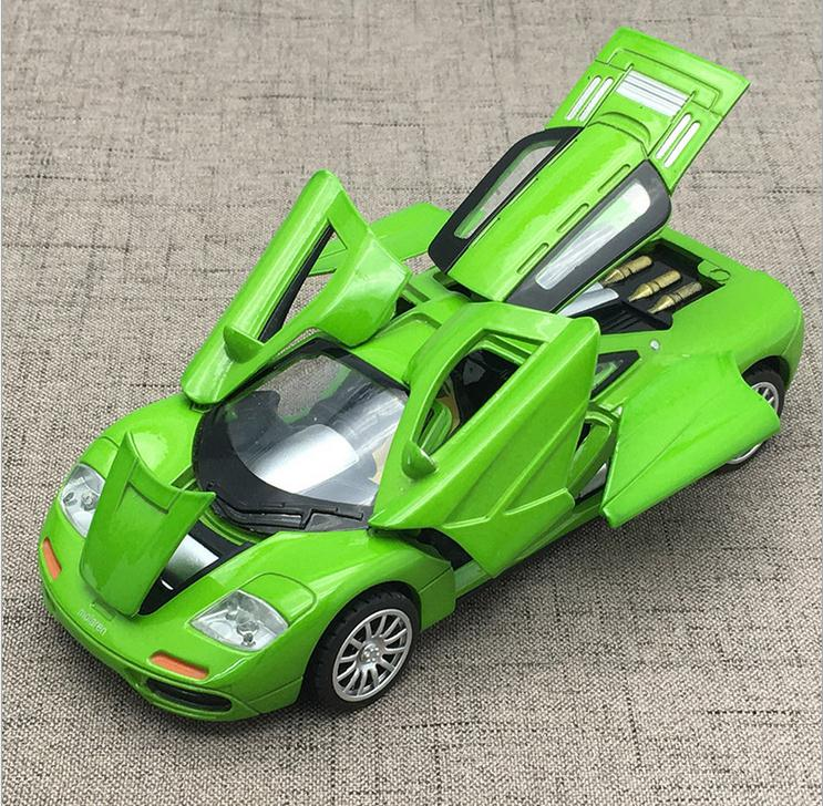 High simulation McLaren alloy car model, 1: 32 alloy pull back car model,6 open door music flash toy vehicle, free shipping free shipping alloy engineering vehicle model 1 87 tower cable car crane toy original factory simulation children