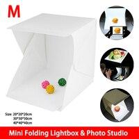 Medium Size Mini Folding Lightbox Photography Studio Softbox LED Light Soft Box Camera Photo Background Box Lighting Tent Kit