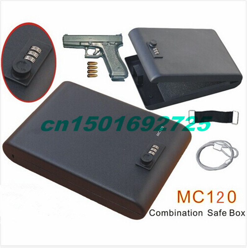 <font><b>Wholesale</b></font> - MC120 Portable 3-Digit Combination Lock Mini Car Gun Safe Box/Vault with one year warranty
