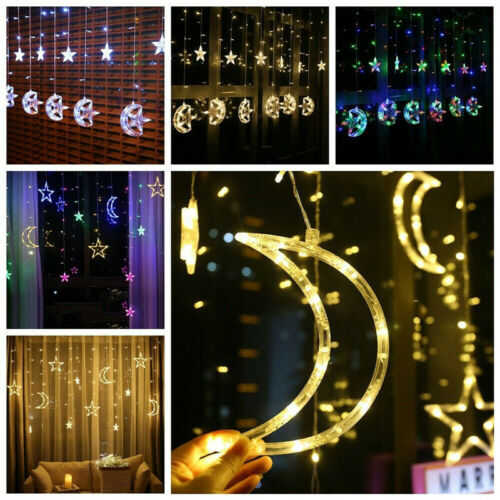 3.5M LED Twinkle Star Curtain Window Fairy Lights Christmas Party Wedding Decor Send In Random Color