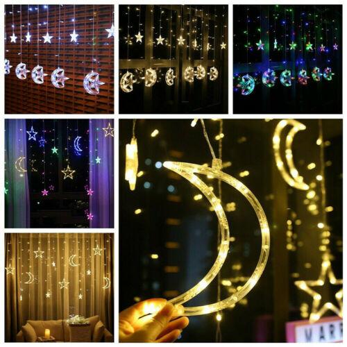 3.5M LED Twinkle Star Curtain Window Fairy Lights Christmas Party Wedding Decor Send In Random Color