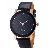 Новые фантастические часы, женские повседневные часы с кожаным ремешком, стразы, женские часы-браслет, кварцевые наручные часы, Montre Femme Reloj Mujer