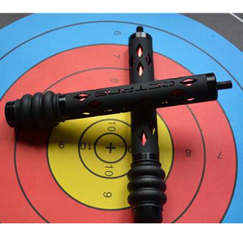 7Inch Archery Compound Bow Stabilizer Aluminum Alloy Shock Absorb Damper Hunting Bow Sliencer