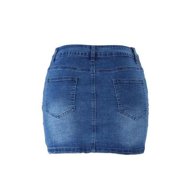High Waist Denim Skirt  4
