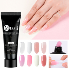 Acrylic Poly Extension Nail Gel Pink White Clear Crystal UV LED Builder Nail Gel Enhancement Slip Solution Quick Extension Ge tanie tanio Mtssii CN(Origin) One Unit 20ml Gel Polish W3660 Resin 1 Bottle