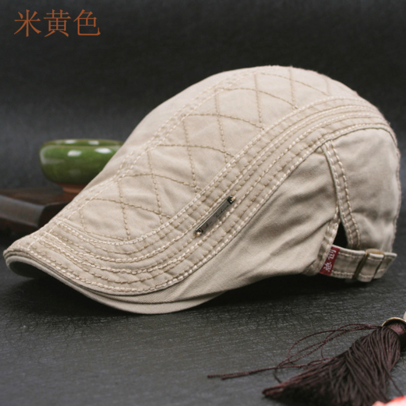 DT599 100% Cotton Men's Gatsby Cap Newsboy Ivy Hat Vintage Gorras Casquette Hats for Women Unisex Beret Cap Hat Mens Cabbie Hats