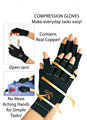 1pair NEW Copper Hands Arthritis Gloves Therapeutic Compression Men Woman Circulation Grip
